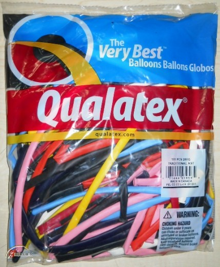 260Q - Qualatex Modellierballons TRADITIONAL (bunt sortiert)