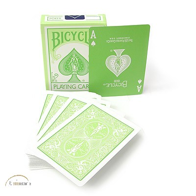 Bicycle Reverse Printed Pastel Green Cards