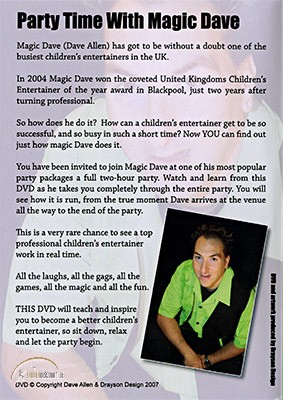 DVD Partytime With Magic Dave by Dave Allen