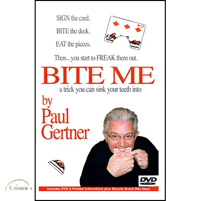 Bite Me by Paul Gertner (Deck and DVD)