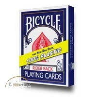 Bicycle 100% Plastic Cards (blue) by Vincenzo Di Fatta