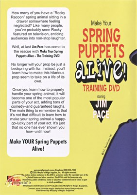 DVD Make Your Spring Puppets Alive