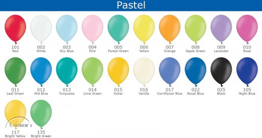 100 BELBAL High Quality Latex Balloons (Round 11 inch/ 28 cm)