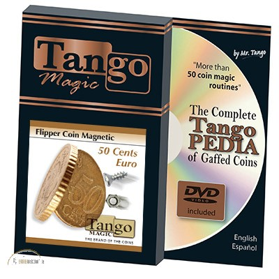 Flipper Coin Magnetic 50 Euro Cent by Tango Magic