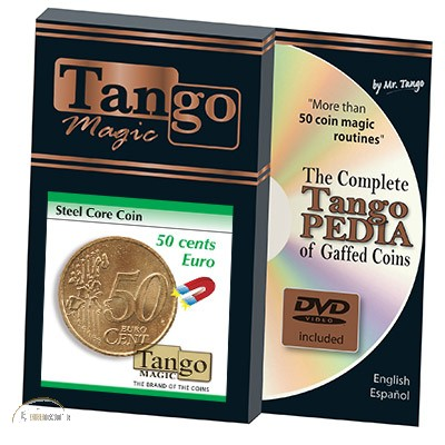 Steel Core Coin (50 Cent Euro w/DVD) by Tango