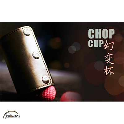 Leather Chop Cup (with Balls)/ Chop Cup Becher aus Leder