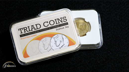 Triad Coins (50 Cent Euro & Online Video) by Joshua Jay & Van.In