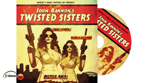Twisted Sisters 2.0 (DVD and Gimmick) Bicycle Back by John Banno