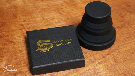 Harmonica Chop Cup Black 2 (Silicon) by Leo Smetsers