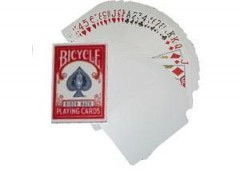Bicycle Blankokarten mit Bildseite/ Blank Back (rote Box)