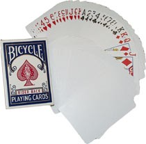 Bicycle Blankokarten mit Bildseite/ Blank Back (blaue Box)