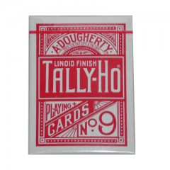 Tally Ho Fan Back Poker size Cards (Red)
