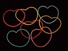 Rubber Band Shapes (heart)/ Vorgeformte Gummibänder (Herz)
