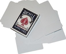 Bicycle Doppel-Blankokarten / Double Blank (blaue Box)