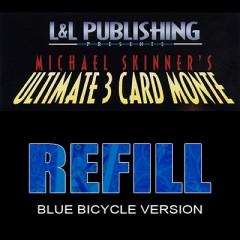 Ultimate 3 Card Monte Refill/ Nachfüllpack (blau)
