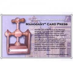 Card Press (Wood, Viennese Style)/ Kartenpresse