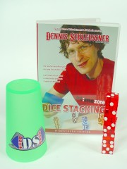 Dice Stacking Set: DVD, Würfel und Becher (rot)