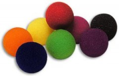 1 1/2 Inch Super Soft Sponge Balls by Goshman (orange)