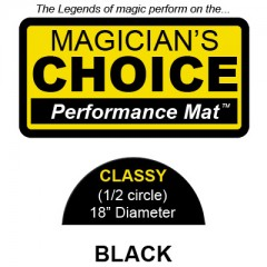 Classy Close-Up Mat (BLACK - 18 inch) by Ronjo