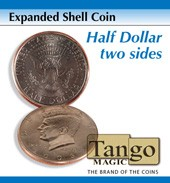 Expanded Shell Half Dollar (Two Sided) by Tango