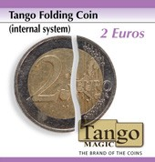 Folding Coin 2 Euro (Internal System) by Tango Magic
