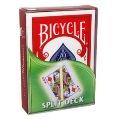 Bicycle Split Deck (red back) by Vincenzo Di Fatta