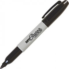 SUPER Sharpie Permanent Marker Bold Point schwarz (black)
