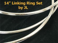 14 Linking Ring Set by JL (Ringspiel ca. 35,5 cm)