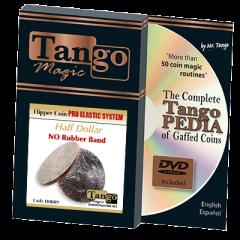 Flipper Coin Pro Elastic System (Half Dollar) by Tango