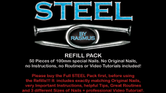 STEEL Refill Nails 50 ct. (100mm) by Rasmus