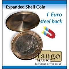Expanded Shell Coin - (1 Euro, Steel Back) by Tango Magic